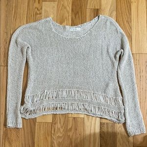 Abercrombie & Fitch Fringed Sweater